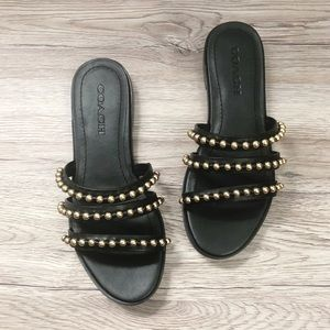 Coach | Isa Studded Leather Slide Sandal